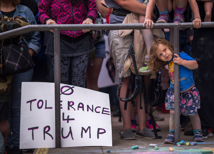 In this file photo taken on June 23, protesters demand children be reunited with their immigrant parents during a demonstration in San Diego, California.