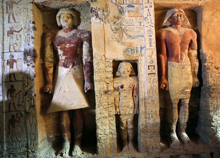 A view of the newly discovered tomb of the high priest Wahtye, which dates from the rule of King Neferirkare, is shown at the Saqqara necropolis area near the pyramids of Giza, Egypt, on Dec. 15.