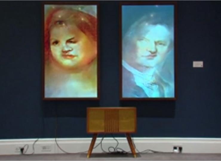 AIによる「変わり続ける肖像画」、ロンドンのオークションに出品