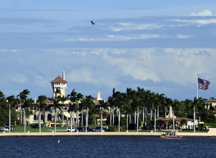 米フロリダ州にあるトランプ大統領の別荘、マー・ア・ラゴ