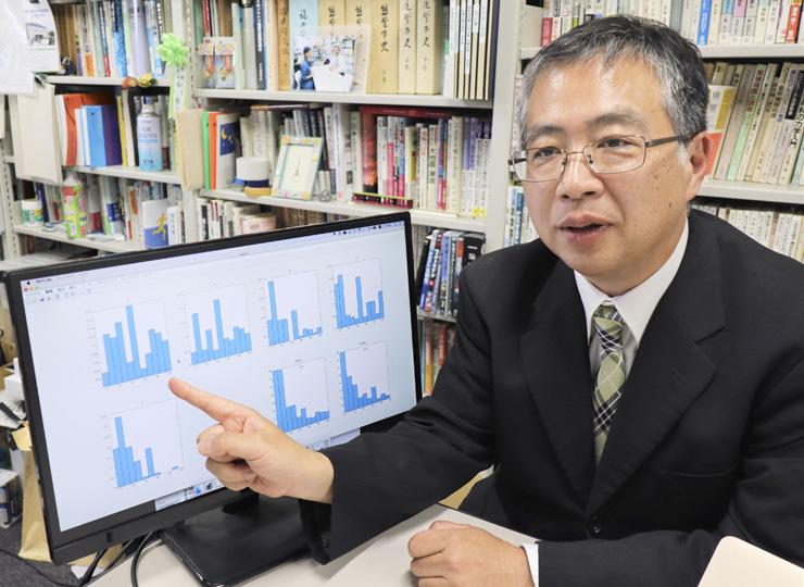 アンケート結果を説明する関西大の林能成教授
