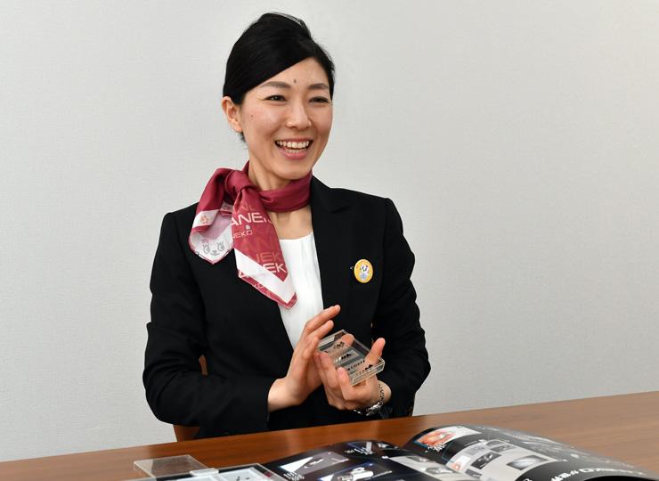 株式会社金子製作所で海外営業を担当する桜舞子さん