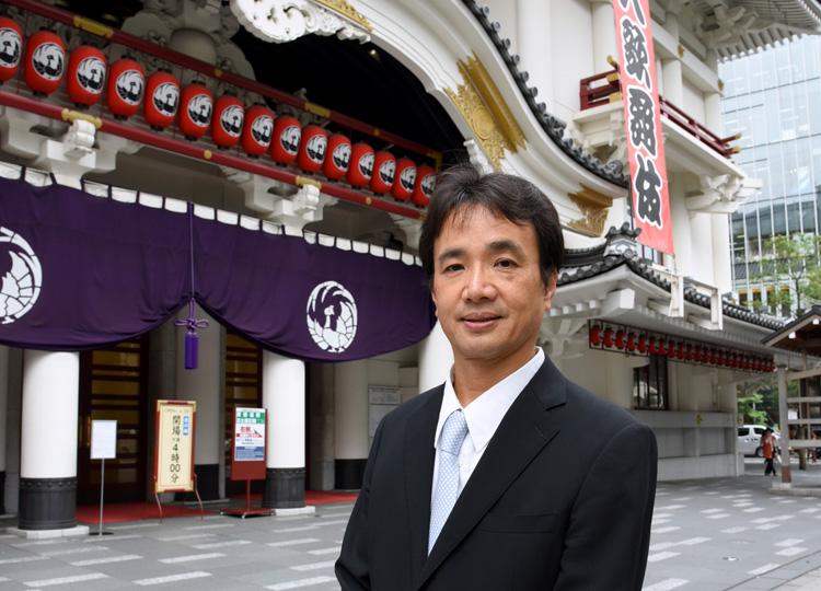 松竹で演劇本部を担当する取締役の船越直人さん