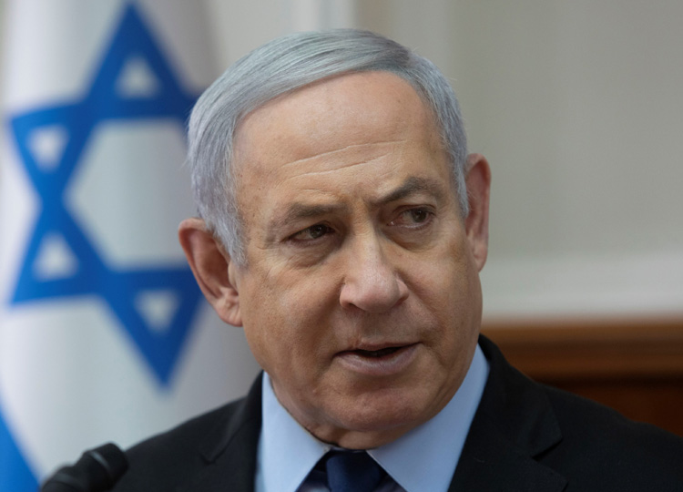 Israeli Prime Minister Benjamin Netanyahu heads the weekly Cabinet meeting at the Prime Minister's Office in Jerusalem on Nov. 24.
