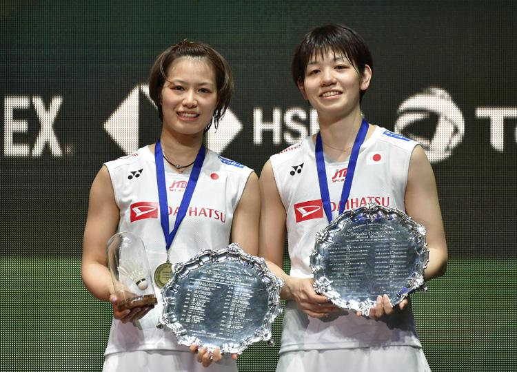 男女ともにダブルスで日本勢が優勝した。