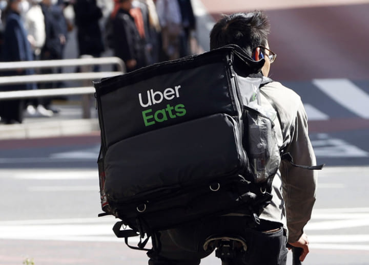 Japan's Uber Eats delivery people want hazard pay, protective equipment