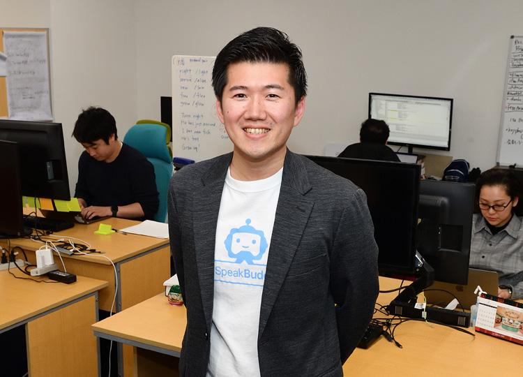 英会話アプリの企画・開発会社appArrayの代表取締役、立石剛史さん