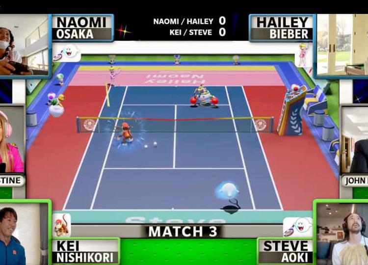 錦織圭、大坂なおみらプロテニス選手 eスポーツ「マリオテニス」でチャリティーマッチ