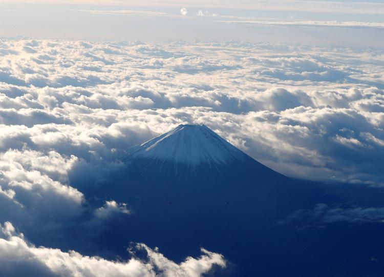 An aerial view of Mount Fuji taken on Nov. 24.