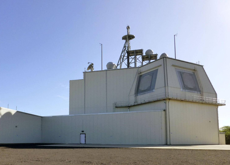 The Aegis Ashore land-based missile defense test complex on the Hawaiian island of Kauai is seen in January 2019.