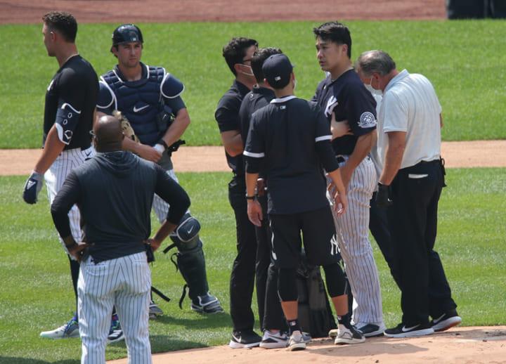Yankees' Masahiro Tanaka checks out of hospital after taking line drive to head