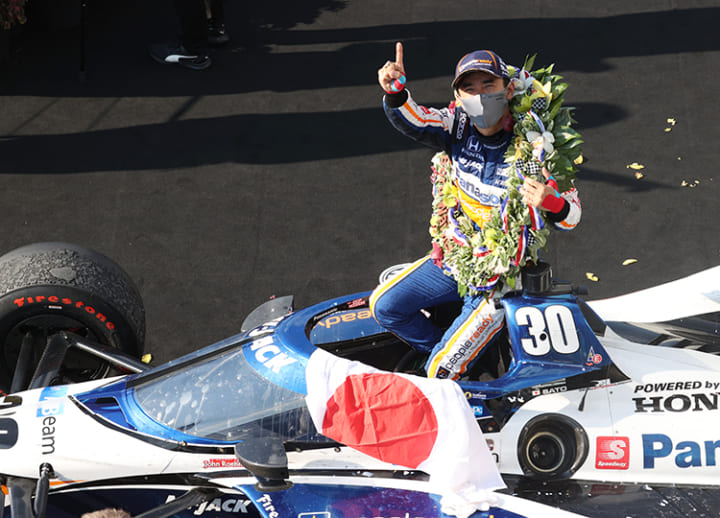 Sato becomes 1st Japanese driver to win Indianapolis 500 for second time