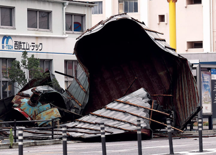 Typhoon Haishen leaves two dead, and over 100 injured