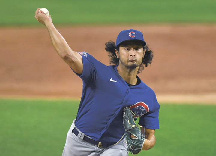 Darvish becomes 1st Japanese to lead an MLB league in wins