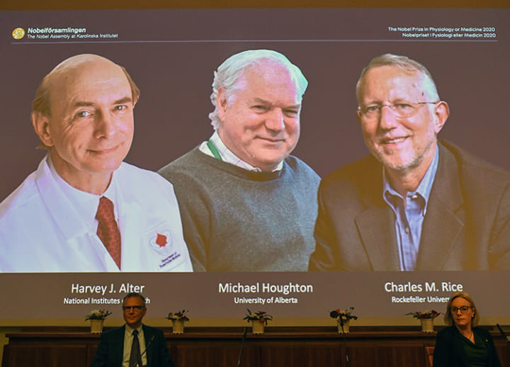 Trio wins Nobel Prize in medicine for discovery of hepatitis C virus
