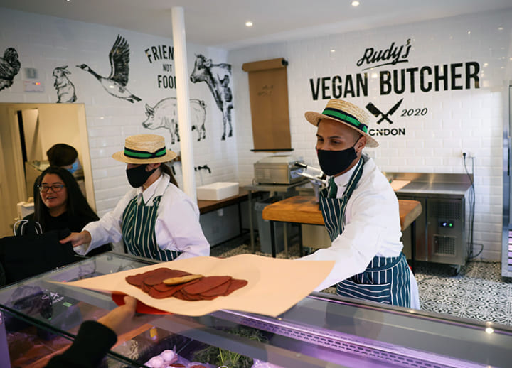 Where's the meat? UK's first vegan butcher shop launches in north London
