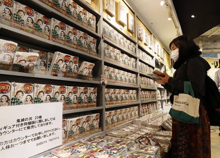 It could have been worse: Demon Slayer cushions a fall in print sales in Japan