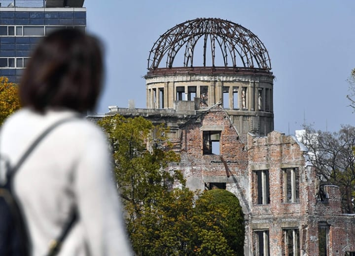 Hiroshima A-Bomb Dome unveiled as preservation work almost finished