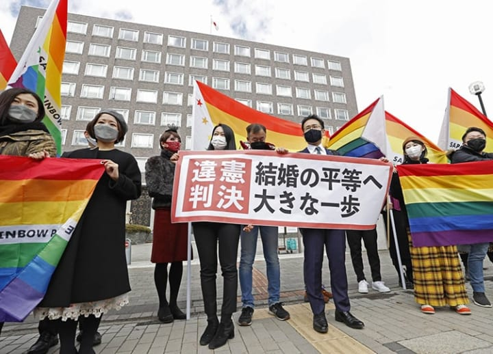 Japan court rules failure to recognize same-sex marriage unconstitutional