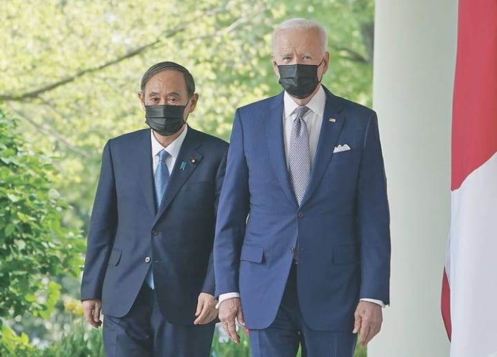 Suga and Biden commit to take on China challenges