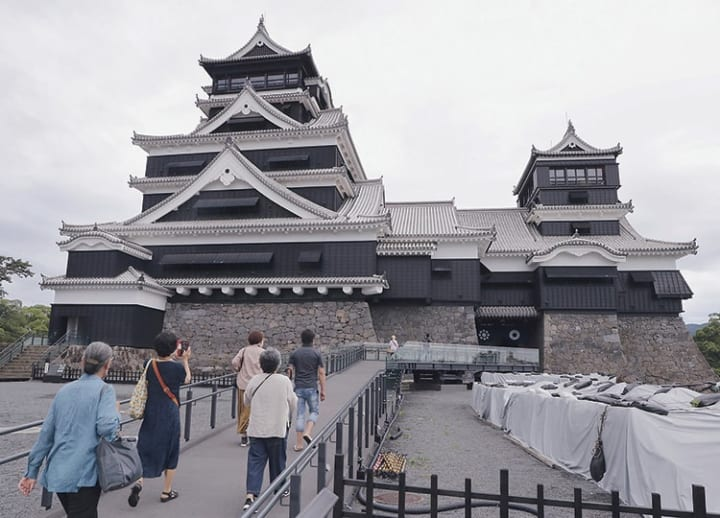 Kumamoto Castle main tower reopens to public after repairs
