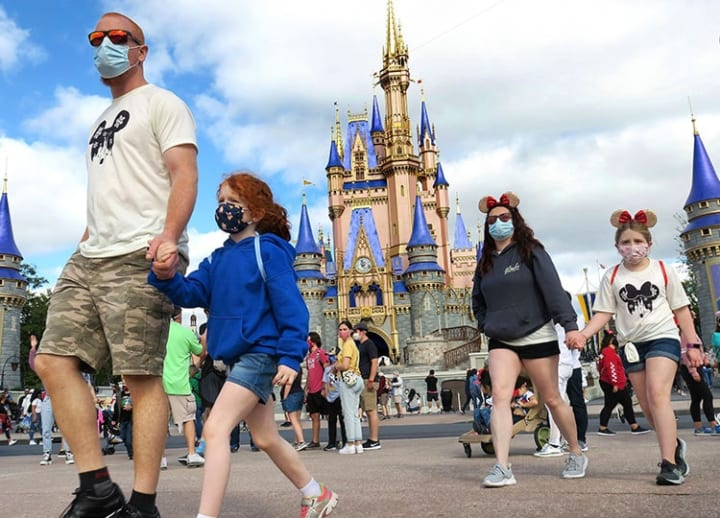 Disney World: Go ahead and take off your face mask — if you're in an outdoor area