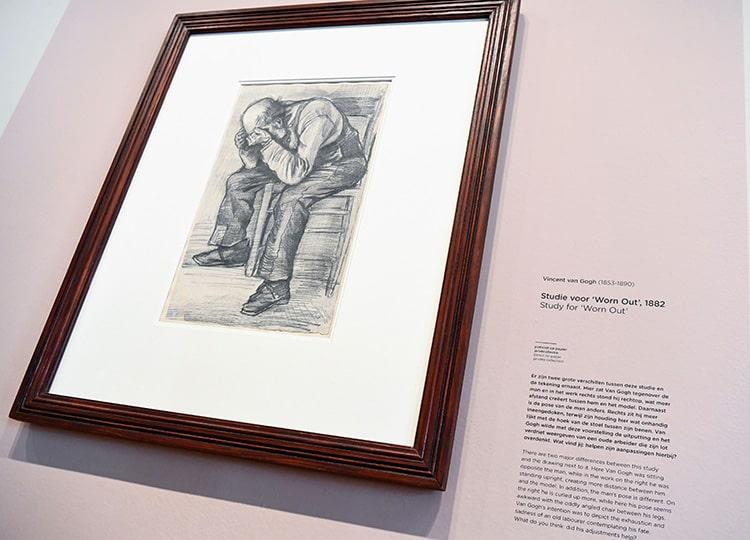 ゴッホの未公開のスケッチ発見 オランダの美術館で展示